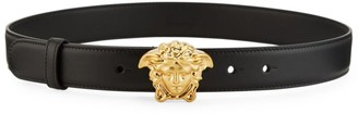 Versace Medussa Embossed Leather Belt