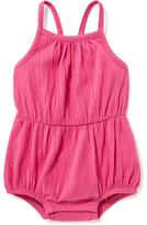 Old Navy Jersey Bow Back Bubble Romper for Baby