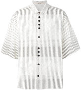 Damir Doma stripe dotted shirt - men - Cotton - S