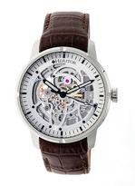 Heritor Ryder Mens Brown Strap Watch-Herhr4603