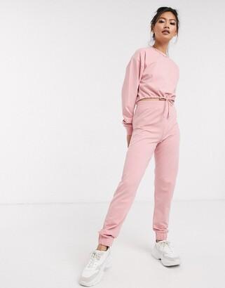 Miss Selfridge joggers in pink co