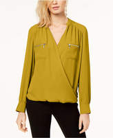 INC International Concepts I.n.c. Petite Surplice Utility Blouse, Created for Macy's