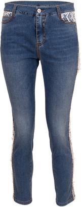 Ermanno Scervino Lace Tux Stripe Mid-Rise Jean