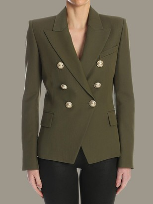 Balmain Double-breasted Jacket With Jewel Buttons