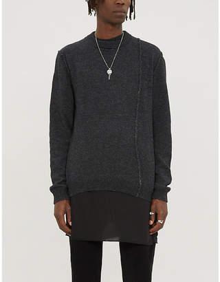 Isabel Benenato Exposed-seam alpaca-blend knit jumper