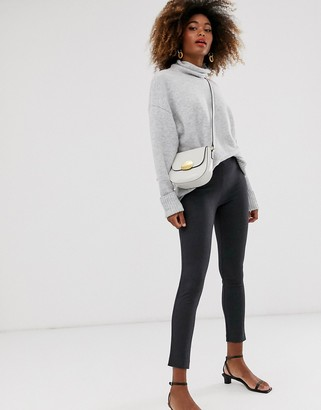 French Connection mini houndstooth stretch pants