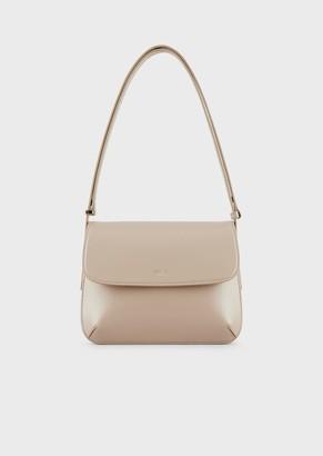 Giorgio Armani Large, Palmellato Leather La Prima Bag