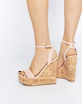 Asos TIME FLIES Two Part Wedges