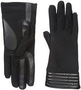 Isotoner Women's Smartouch Spandex Glove with Metallic Hem Thermaflex Lining