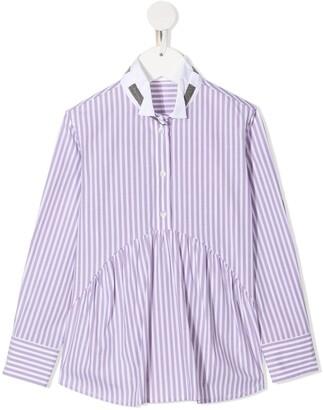 BRUNELLO CUCINELLI KIDS Candy Stripe Shirt