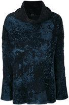 Avant Toi stained effect jumper - women - Silk/Polyamide/Cashmere/Merino - XS