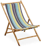 One Kings Lane Bamboo Lounge Chair - Blue