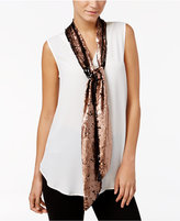 INC International Concepts Reversible Sequined Skinny Scarf, Only at Macy's