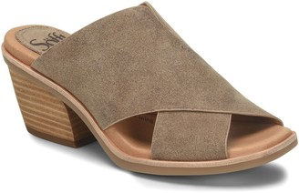 Sofft Cross Band Slip-On Sandals - Perrie