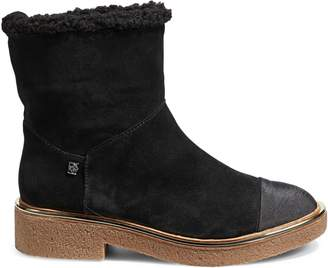 DKNY Faux Shearling-Trim Ankle Boots