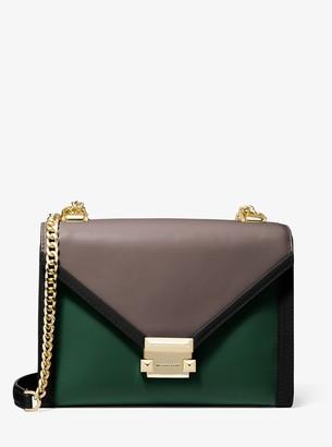 MICHAEL Michael Kors Whitney Large Tri-Color Leather Convertible Shoulder Bag