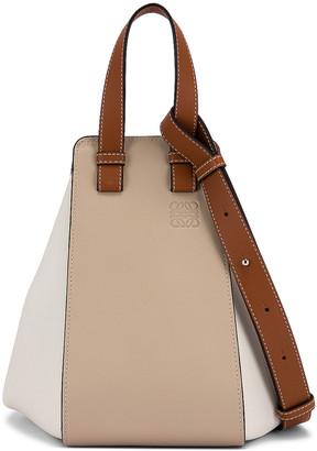 Loewe Hammock Small Bag in Light Oat & Soft White | FWRD