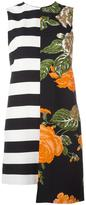 MSGM stripes floral print dress - women - Polyester/Viscose - 38