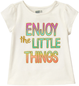 Crazy 8 Jet Ivory 'Enjoy The Little Things' Tee - Infant & Toddler