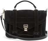 Proenza Schouler PS1+ medium suede shoulder bag