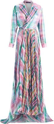 Ralph Lauren Taylah Madras Evening Dress