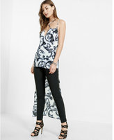 Express scroll print extreme hi-lo strappy cami