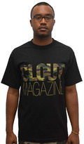 Camo CLOUT Magazine header Woodland t shirt