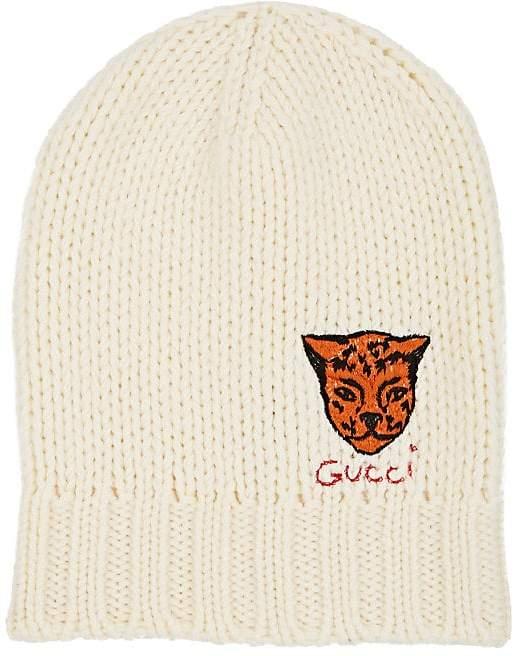 Gucci Men's Tiger-Appliquéd Wool Beanie
