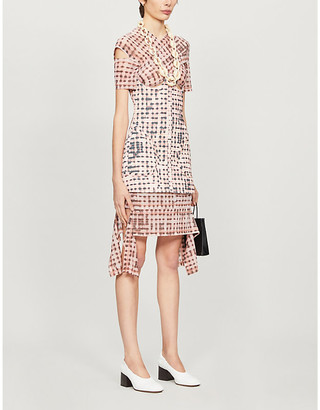 Charlotte Knowles Anti checked stretch-woven mini dress