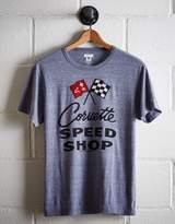 Tailgate Men's Corvette Speed Shop T-Shirt