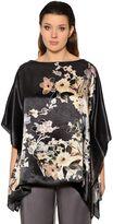 Marina Rinaldi Floral Printed Satin Caftan Top