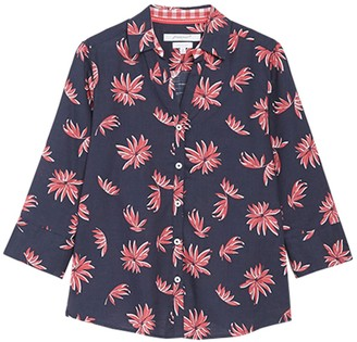 Foxcroft Mary 3/4 Sleeve Floral Blouse (Petite)