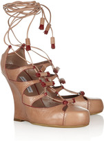 Tabitha Simmons Drusilla lace-up leather pumps