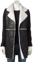 Women's WDNY Black Mixed-Media Cardigan