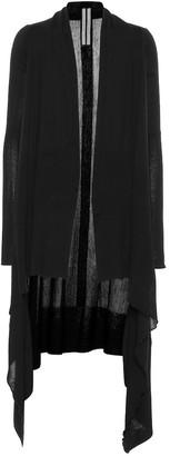 Rick Owens Long Wrap wool cardigan