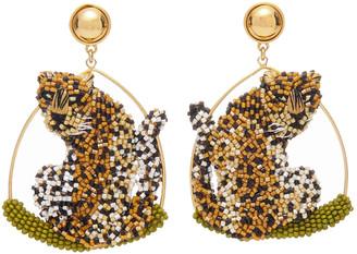 Mignonne Gavigan Leopard Swing Earring in Nude/Black
