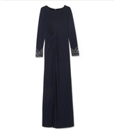 Vince Camuto Embellished-Cuff Gown