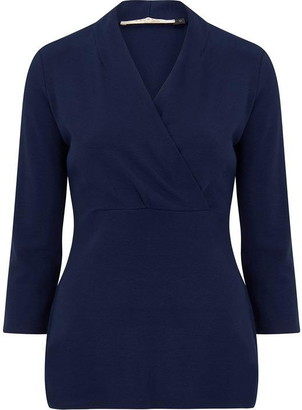 Nougat Fig Cross Front Top