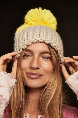 Collection XIIX Cozy Up Color Block Pom Beanie