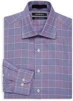 Saks Fifth Avenue BLACK Men's Slim-Fit Plaid Cotton Dress Shirt