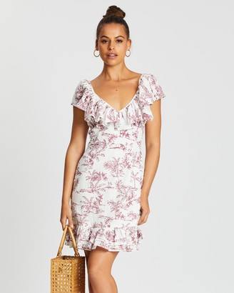 MinkPink Tropical Toile Mini Dress