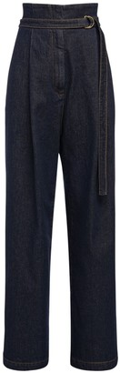 Philosophy di Lorenzo Serafini High Waist Cotton Denim Wide Jeans