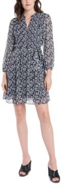 MSK Petite Printed A-Line Dress