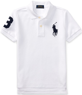 Ralph Lauren Kids Big Pony Pique Knit Polo, Size 2-3