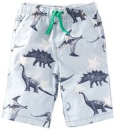 OHBABYKA Summer Boys/Girls' Animal Print Beach Cotton Shorts