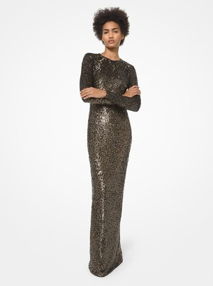 Michael Kors Collection Sequined Stretch Tulle Gown