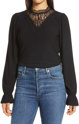 Halogen Lace Knit Top