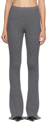 Christina SSENSE Exclusive Grey Rib Knit Lounge Pants