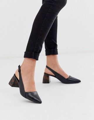 Co Wren mid heeled shoes in black