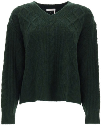 See by Chloe V-NECK SWEATER L Green